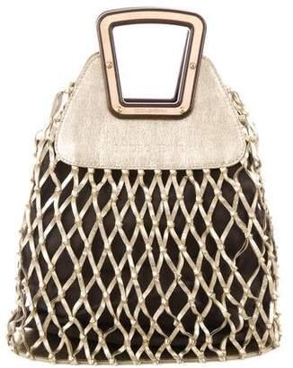 Dolce & Gabbana Metallic Woven Handle Bag