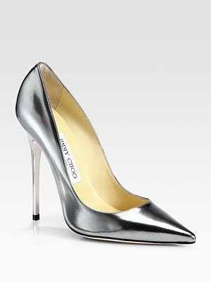 Jimmy Choo Anouk Metallic Leather Pumps