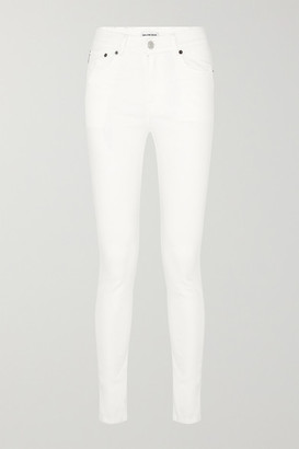 Balenciaga Distressed High-rise Skinny Jeans - White