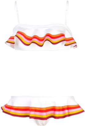 Zimmermann striped print bikini set
