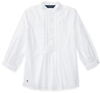 Ralph Lauren Childrenswear Girls 7-16 Cotton Button Front Top $45 thestylecure.com
