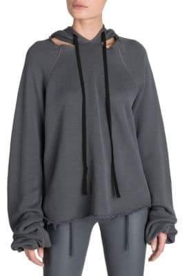 Taverniti So Ben Unravel Project Cashmere Cutout Hoodie