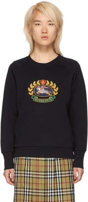 Burberry Black Reissued Jersey Sweatshirt