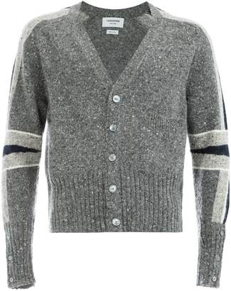 Thom Browne panelled sleeve cardigan