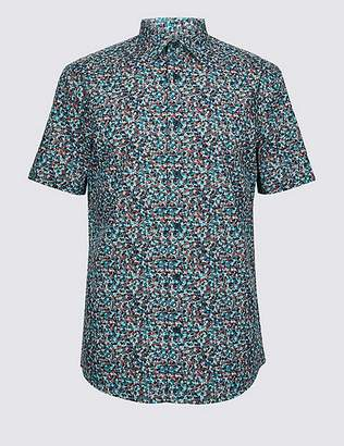 Marks and Spencer Pure Cotton Floral Print Shirt