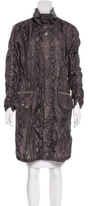 MICHAEL Michael Kors Knee-Length Printed Raincoat