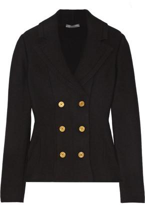 Alexander McQueen - Double-breasted Wool-blend Peplum Blazer - Black $2,145 thestylecure.com