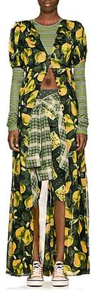 Marc Jacobs Women's Pear-Print Georgette Maxi Dress - Grn. Pat.