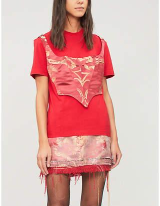 Di Lara Dilara Findikoglu Corset cotton-jersey T-shirt