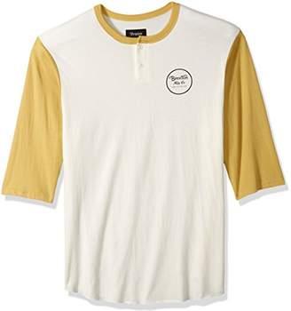 Brixton Men's Wheeler Standard Fit 3/4 Sleeve Henley Tee