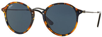Ray-Ban Round Plastic/Metal Sunglasses $160 thestylecure.com
