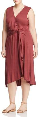 Bobeau B Collection by Curvy Rowan Faux-Wrap Dress - 100% Exclusive
