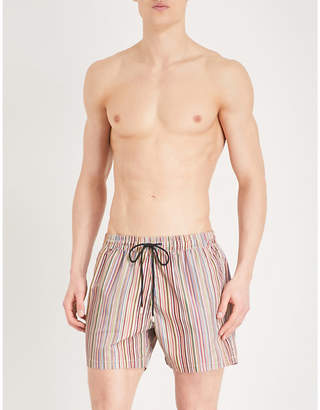 Paul Smith Classic stripe pattern swim shorts