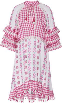 DoDo Bar Or Lola Ruffle Sleeve Cotton Midi Dress