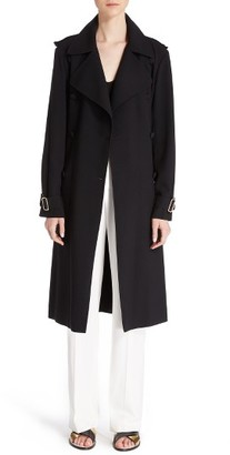 Women's Lanvin Crepe Back Satin Trench Coat $2,390 thestylecure.com