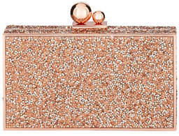 Sophia Webster Clara Crystal Box Clutch Bag, Gold