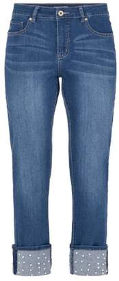 Tribal Pearl Studded Jeans