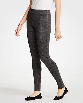 2487b51c4d9 Ann Taylor Petite Glen Plaid Side Zip Leggings