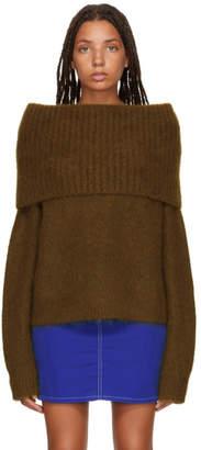 Acne Studios Brown Cowl Neck Sweater