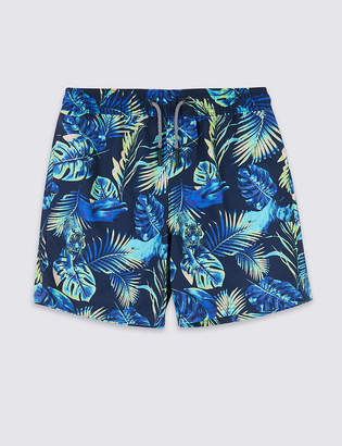 Marks and Spencer Sustainable Neon Leaf Print Swim Shorts (3-16 Years)