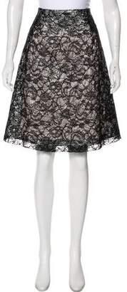 Rochas Metallic Lace Skirt