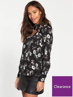 Very Printed Cross Over Blouse