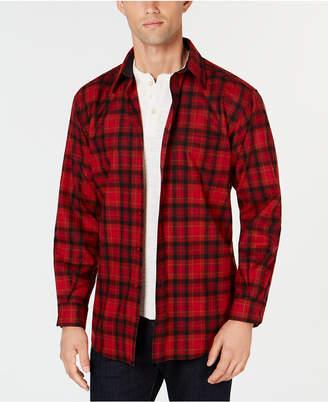 Pendleton Men Lodge Plaid Wool Pocket Shirt