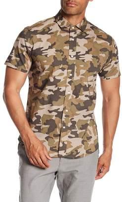 ccdfd550 Slate & Stone Modern Fit Camo Button Short Sleeve Shirt