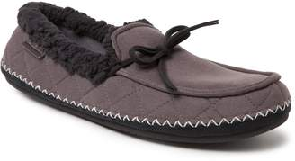Dearfoams Men's Quilted Microsuede Moccasin Slippers