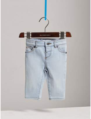 Burberry Skinny Fit Stretch Denim Jeans , Size: 2Y, Blue