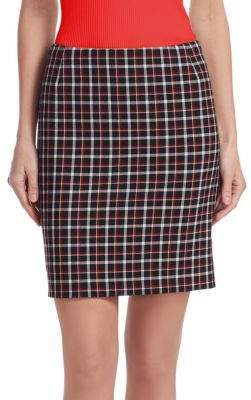 Akris Punto Glen Check Mini Skirt