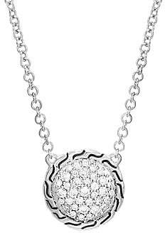 John Hardy Women's Classic Chain Silver & White Diamond Necklace