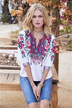 Johnny Was Annaliese Boxy Peasant Blouse