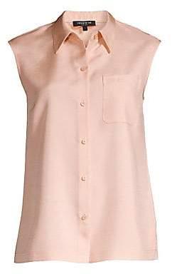 Lafayette 148 New York Women's Yani Sleeveless Silk Blouse