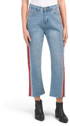 Juniors Australian Designed Side Stripe Denim Pants
