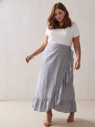 RACHEL Rachel Roy Cruz - Pinstripe Midi Skirt