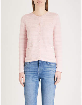 Claudie Pierlot Striped-pattern knitted cardigan