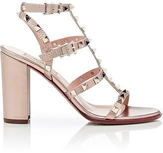 Valentino Garavani Women's Rockstud Triple-Strap Sandals $1,075 thestylecure.com