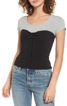 Women's Leith Lace Up Bustier $49 thestylecure.com