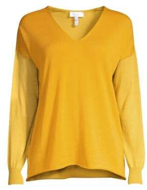 Escada Sport Knit Virgin Wool V-Neck Sweater