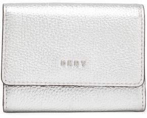 DKNY Metallic Textured-leather Cardholder