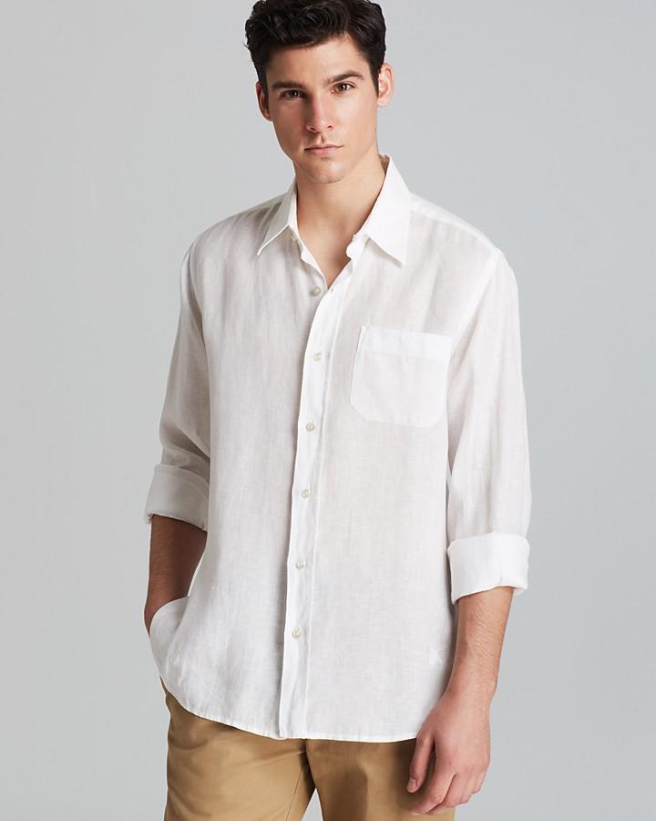 Vilebrequin Caroubie Linen Woven Sport Shirt - Classic Fit