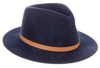 Rag & Bone Wool Leather Trim Hat