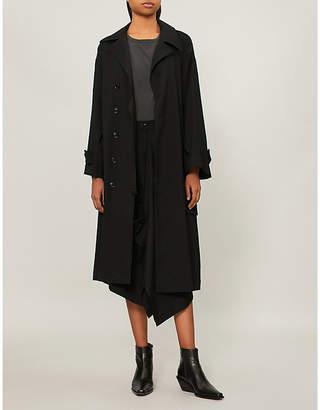 Y's Ys Belted wool-blend jacket