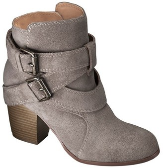 Mossimo Supply Co Women's Mossimo Supply Co Jessica Genuine Suede Strappy Boots $49.99 thestylecure.com