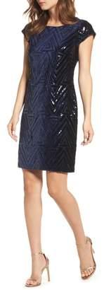 Eliza J Sequin Sheath Dress