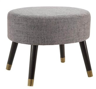 Convenience Concepts Mid Century Ottoman Stool in Gray