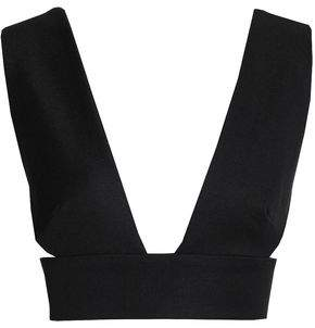 SOLACE London Open-Back Cropped Jersey Top