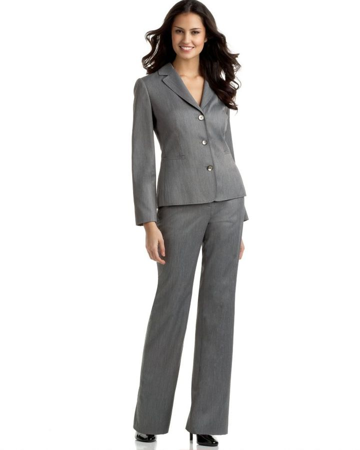 Calvin Klein Three-Button Pant Suit
