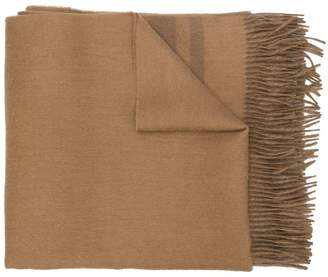 Max Mara fringed edges scarf